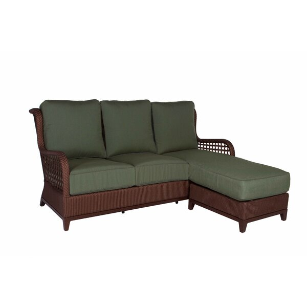 Aberdeen Chaise Lounge Sofa with Cushions by Acacia Home and Garden