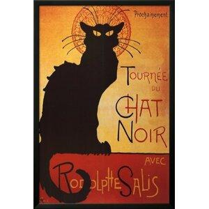 'The Black Cat Poster' Framed Graphic Art by Buy Art For Less