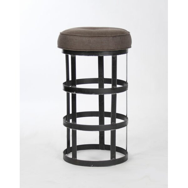 Duchene Recycled Metal 32 Bar Stool by 17 Stories