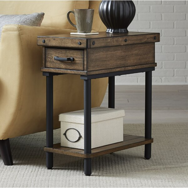 Rooney End Table with Storage by 17 Stories