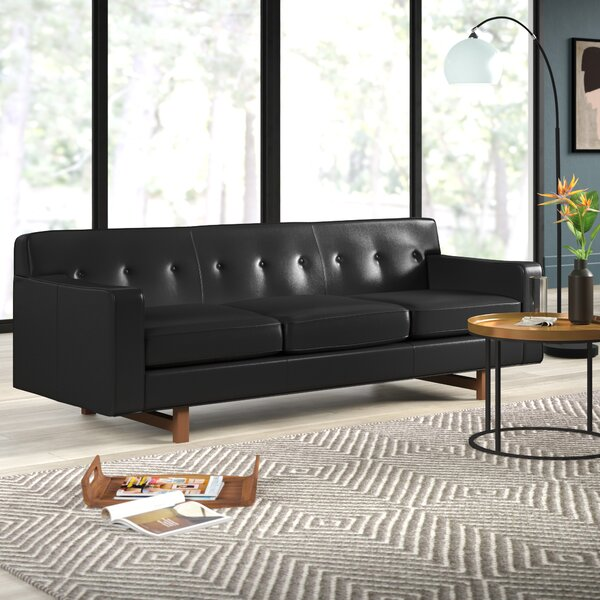 Lomonaco Leather Sofa by Mercury Row