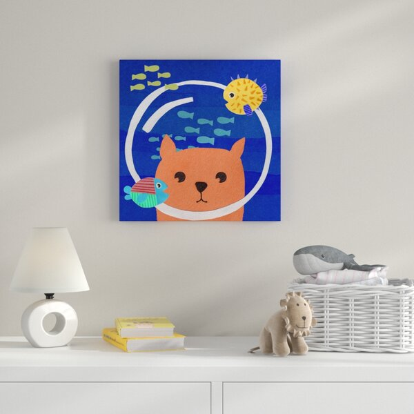 Scubacat Graphic Art on Wrapped Canvas by Zoomie Kids