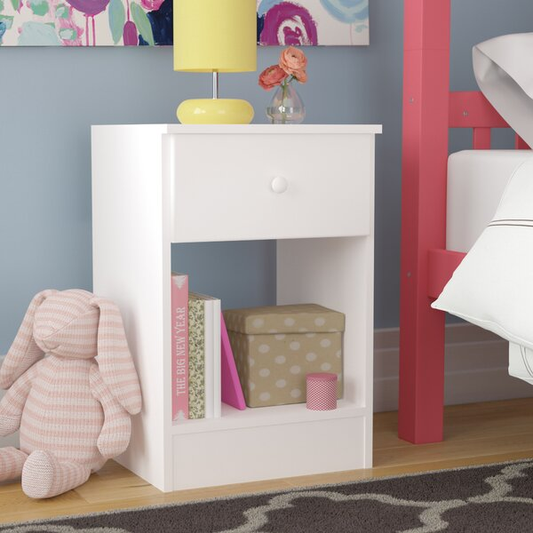 Doyle 1 Drawer Nightstand by Trule Teen