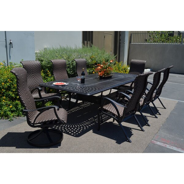 Venice 9 Piece Dining Set by K&B Patio