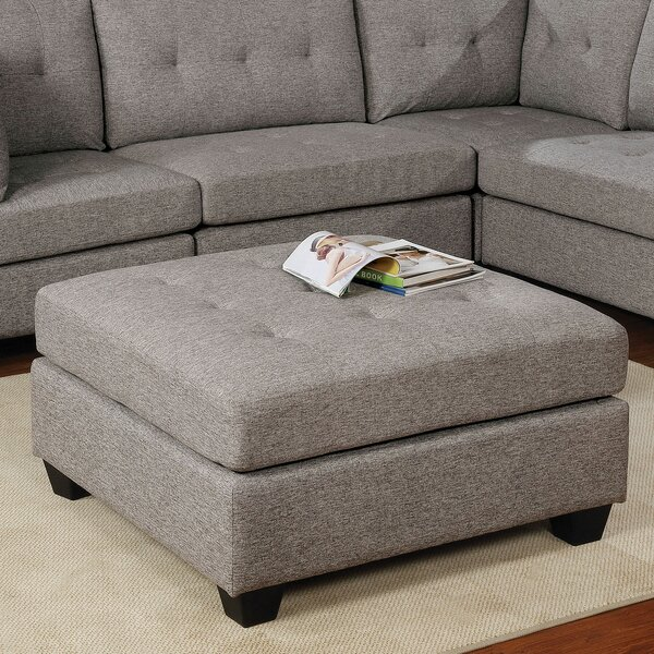 House Tufted Ottoman by Red Barrel Studio