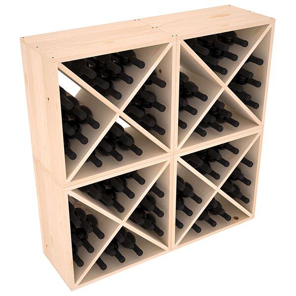 Karnes 96 Bottle Floor Wine Bottle Rack by Red Barrel Studio Red Barrel Studio