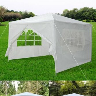 Wedding Party Patio Gazebo Removable 0.6 Ft. W x 3.6 Ft. D Aluminum Pop-Up Canopy by Zeny