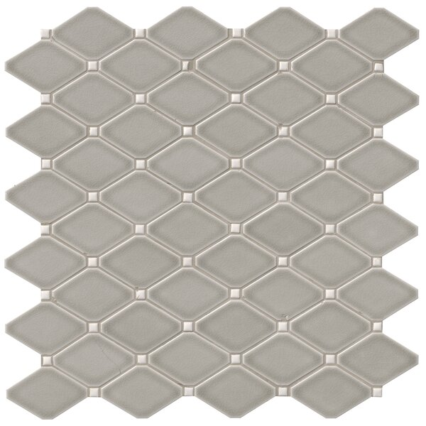 Highland Park Diamond 12.28 x 12.8 Ceramic Mosaic Tile in Gray by MSI