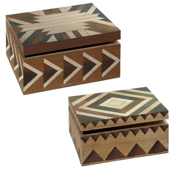 2 Piece Watercolor Slat Decorative Box Set by Loon Peak