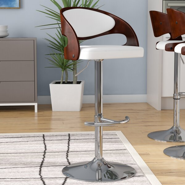 Lanesboro Adjustable Height Swivel Bar Stool by Wa