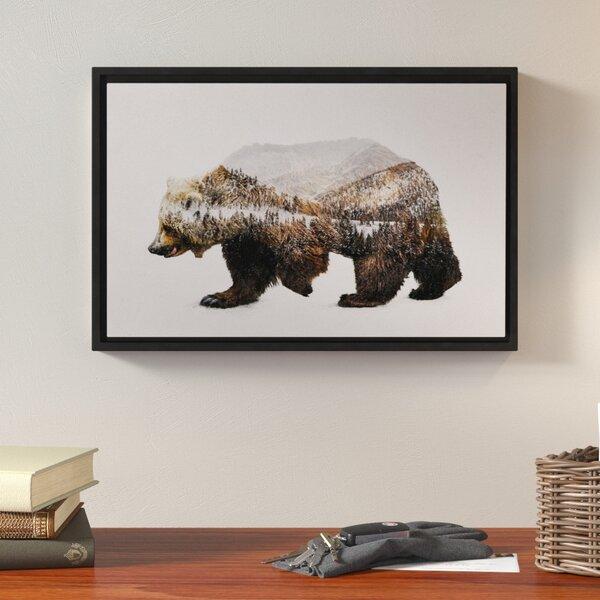Loon Peak The Kodiak Brown Bear Graphic Floater Framed Graphic Art ...