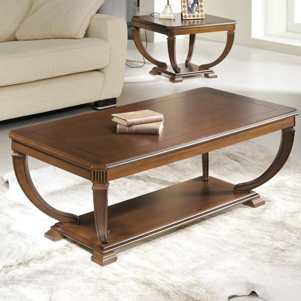 Elin Wood Top Coffee Table by Darby Home Co