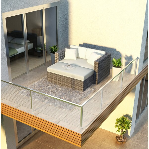 District Patio Daybed with Cushions by Harmonia Living