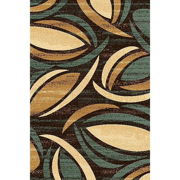 Mccampbell 3D Abstract Brown/Beige Area Rug by Ivy Bronx