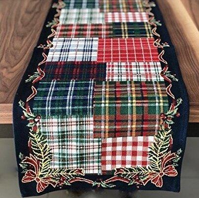 Holiday Tapestry Christmas Plaid Runner by The Holiday Aisle
