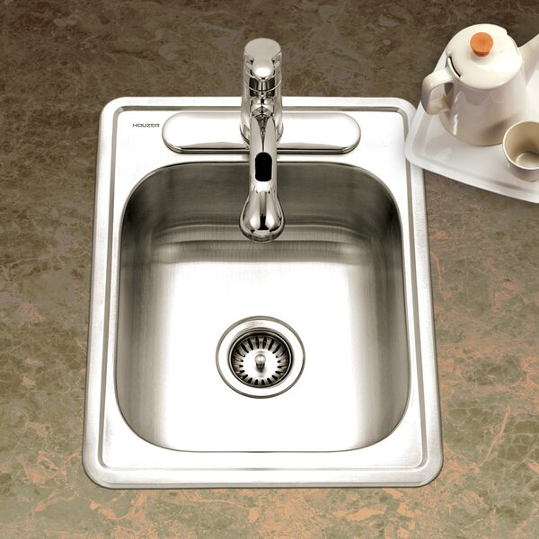 Glowtone ADA Compliant 22 L x 17 W Topmount Single Bowl 22 Gauge Kitchen Sink by Houzer