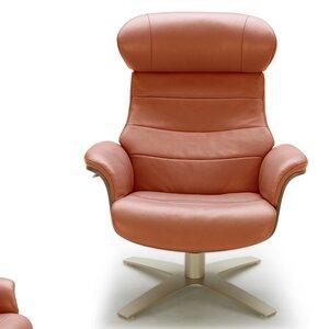 Dakota Swivel Lounge Chair and Ottoman Corrigan Studio