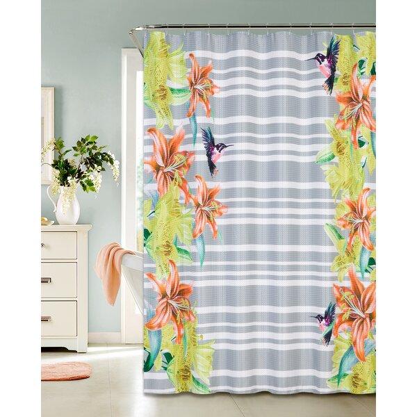 Keen Waffle Shower Curtain by Brayden Studio