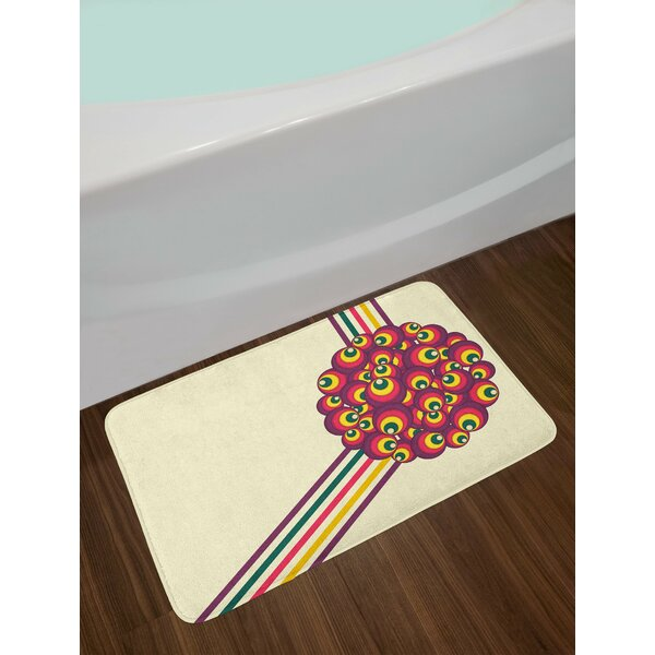 Pop Multicolor Retro Bath Rug by East Urban Home