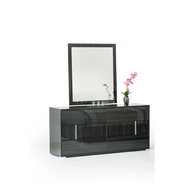 Marisol 6 Drawer Double Dresser with Mirror by Mercer41