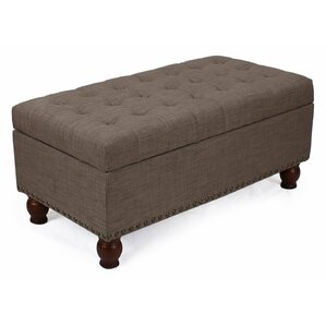 Taylorville Fabric Storage Bench by Three Posts