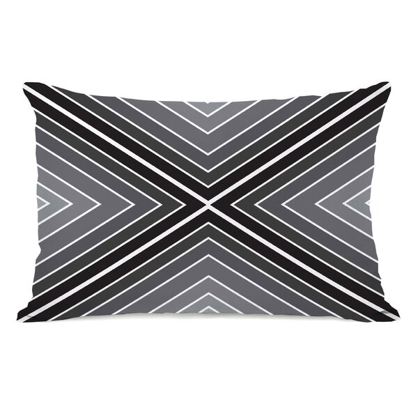 Marks The Spot Geometric Lumbar Pillow by One Bella Casa