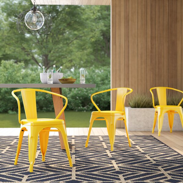 Rucker Stacking Patio Dining Chair by Wrought Studio