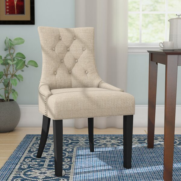 Solid Wood Upholstered Dining Chair (Set of 2) by Willa Arlo Interiors Willa Arlo Interiors