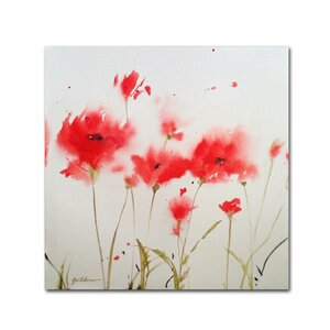 'A Poppy Moment' by Sheila Golden Painting Print on Wrapped Canvas by Trademark Fine Art