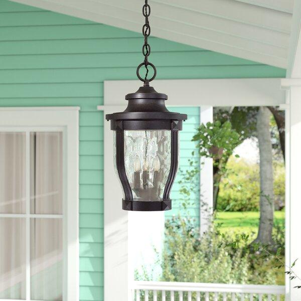 Urbanek 3-Light Outdoor Hanging Lantern by Charlton Home