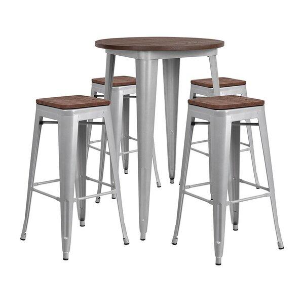 Mulligan Round 5 Piece Pub Table Set by Williston Forge