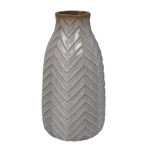 Carlock Ceramic Tribal Look Table Vase by Union Rustic