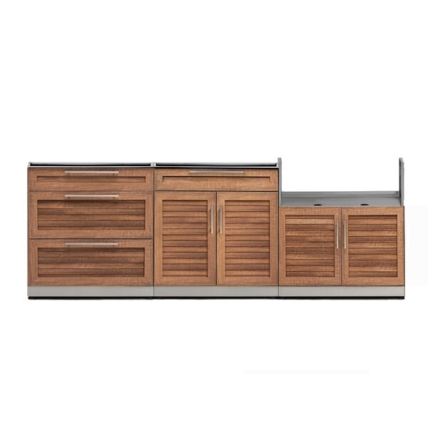 Kitchen 3 Piece Outdoor Bar Center Set by NewAge Products