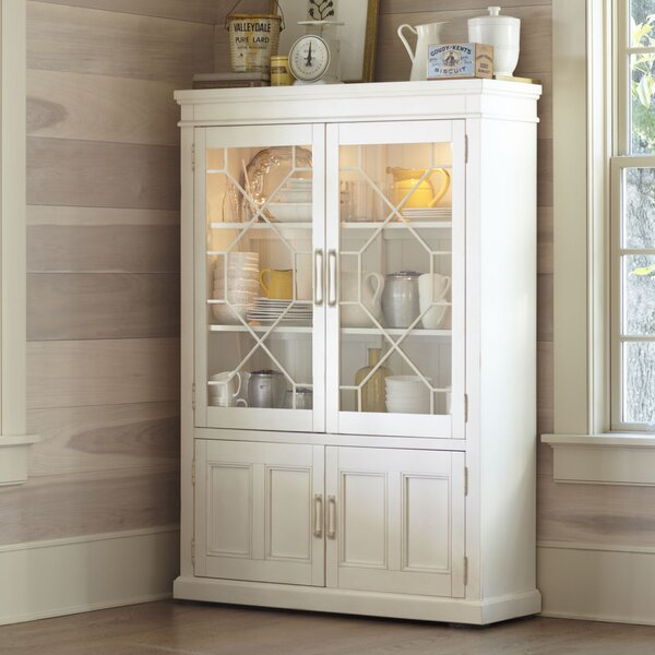 "Lisbon Solid Rubberwood Lighted China Cabinet by Birch Laneâ""¢ Heritage"