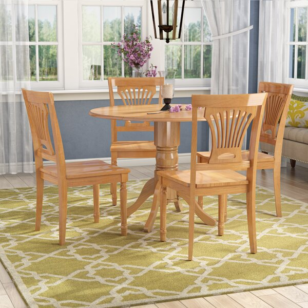 Almendarez 5 Piece Drop Leaf Breakfast Nook Dining Set by Charlton Home