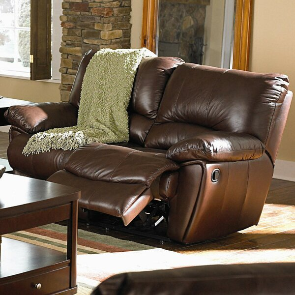 Lidio Leather Reclining Loveseat by Red Barrel Studio