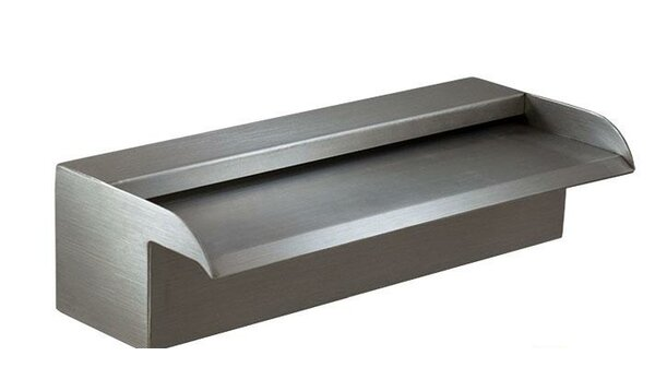 Nakano Stainless Steel Waterfall Spillway by Majestic Water Spouts