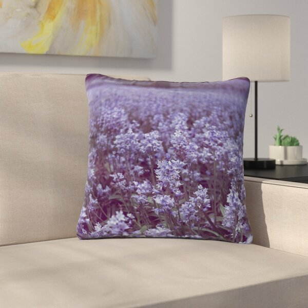 Ann Barnes Bluebell Forest Flowers Outdoor Throw Pillow by East Urban Home