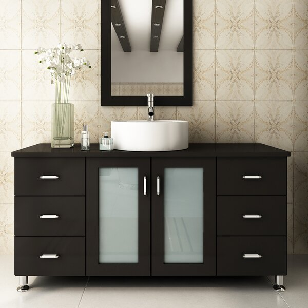 47 Single Grand Lune Bathroom Vanity Set by JWH Living