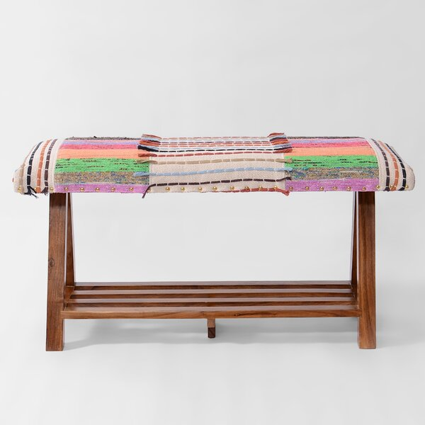 Churchill Upholstered Storage Bench by Bungalow Rose