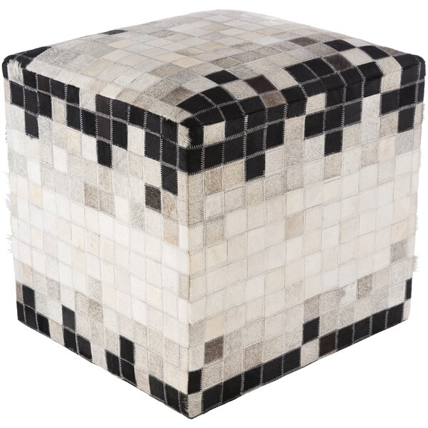 Ivy Bronx Leather Ottomans
