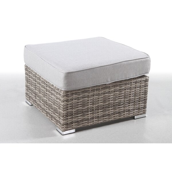 Crispin Outdoor Ottoman with Cushion by Rosecliff Heights