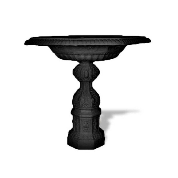 Resin Stone Heated Birdbath by Amedeo Design