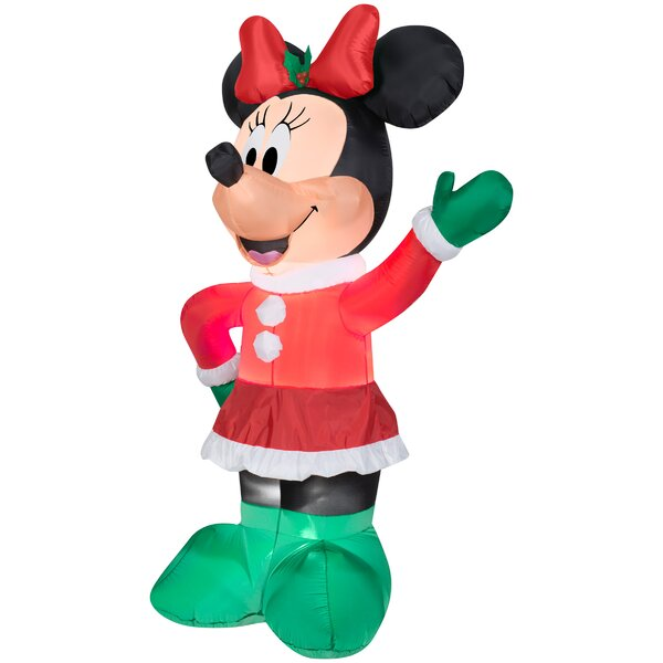 Airblown Minnie in Winter Dress S Large Disney Inflatable by Gemmy Industries