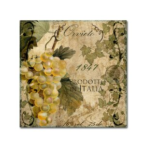 'Vino Italiano IV' by Color Bakery Vintage Advertisement on Wrapped Canvas by Trademark Fine Art