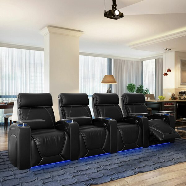 Review Zone HR Series Home Theater Recliner (Row Of 4)