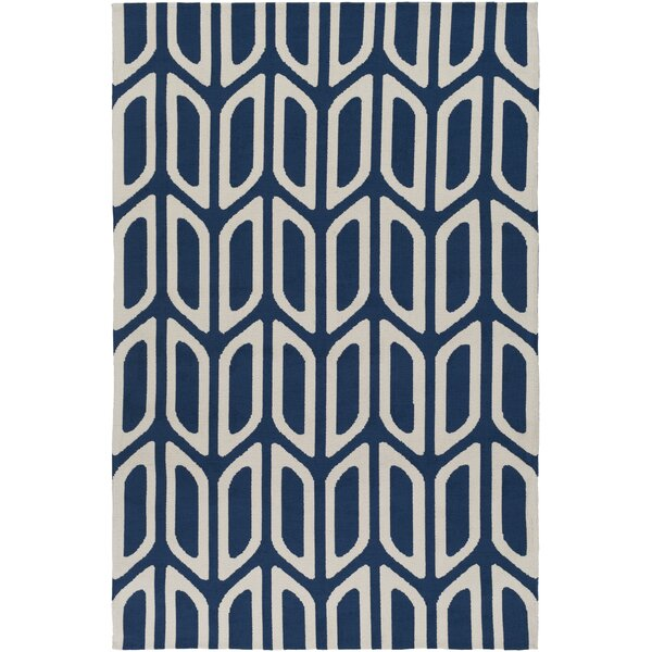 Blohm Navy Blue Area Rug by Wrought Studio