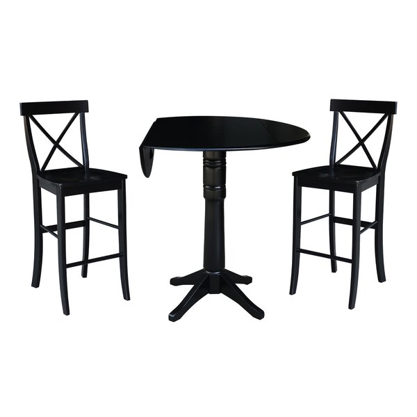 Boysen 3 Piece Adjustable Pub Table Set by Darby Home Co