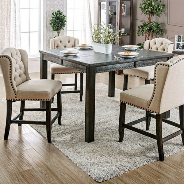Burta Wooden Counter Height Dining Table by Ophelia & Co.