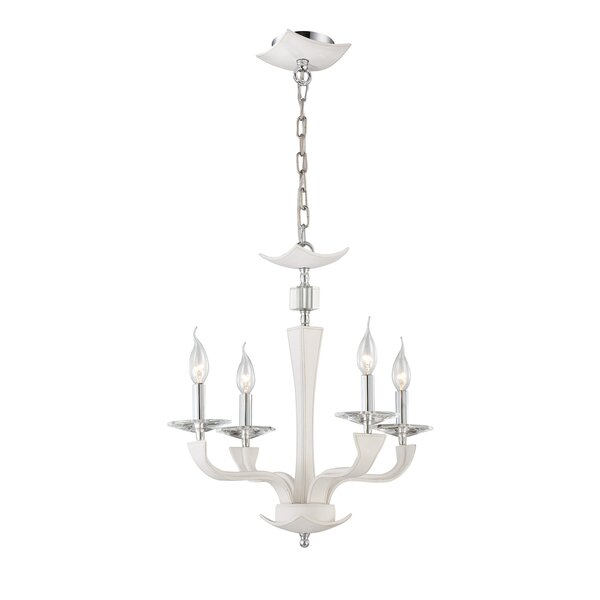 Pella 4 - Light Candle Style Classic / Traditional Chandelier by Eurofase Eurofase
